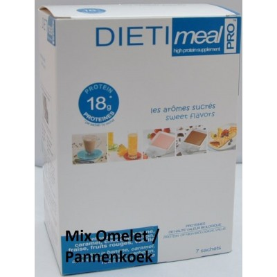 Dietimeal Omelet/Pannenkoekmix, 7 stuks