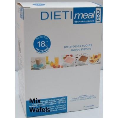 Dietimeal Wafel Mix, 5 stuks