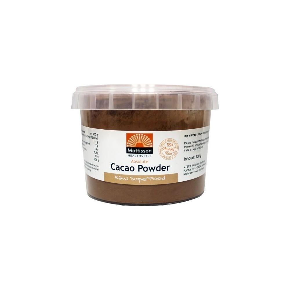 Bio Cacao Poeder Mattison, 100 gram