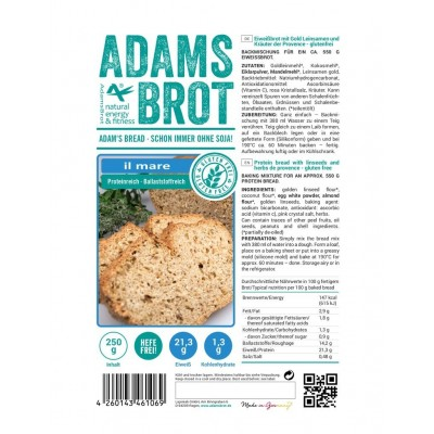 Adam's Il Mare - Glutenvrije Koolhydraatarme Broodmix