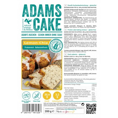 Adam's Cake mix Lemon Chia
